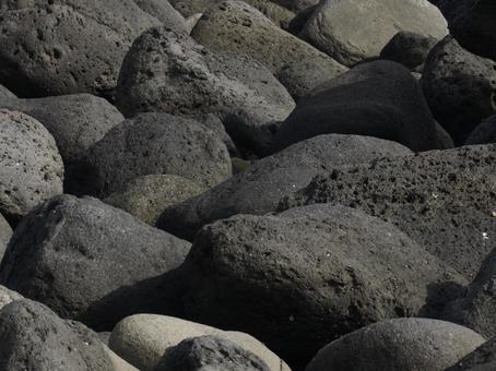 岩石的地方