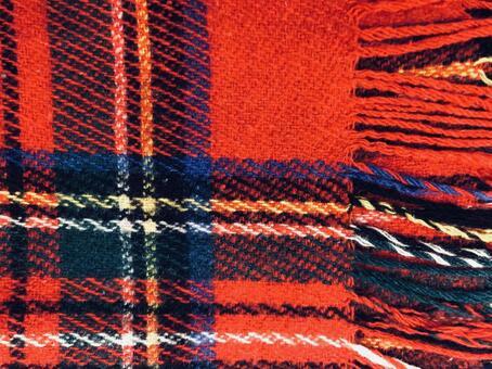 Tartan check textile red