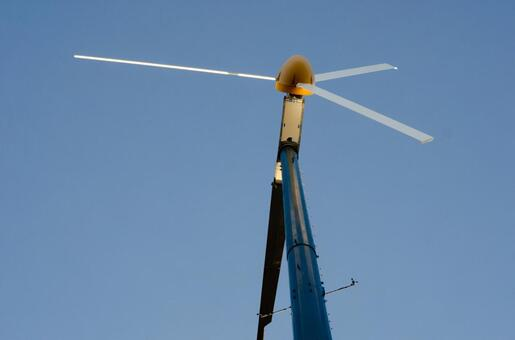 Blue sky and windmill (propeller type 3 wings) 8
