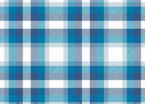 White and light blue check pattern