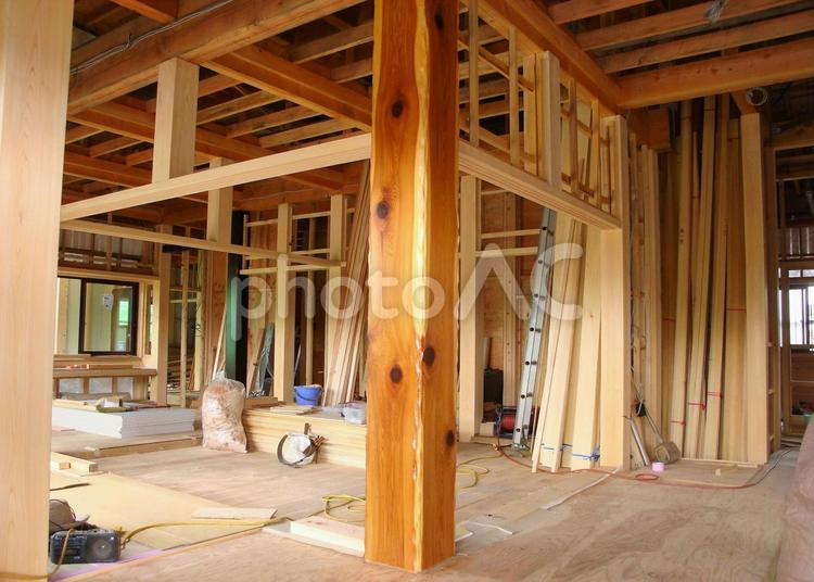 木造住宅建築現場24の写真