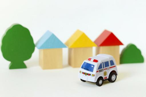 Ambulance running in the city