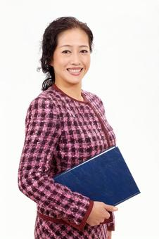 Business woman book