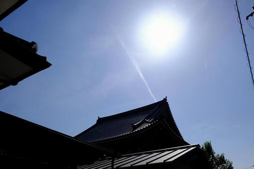 Pleasant blue sky