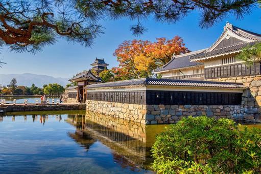 마츠모토 성의 해자와 문