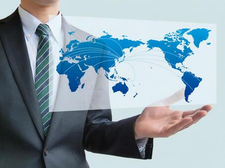 Global business and businessman