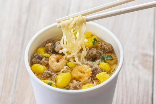Instant noodle cup noodles