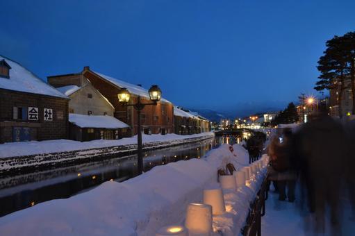 Otaru Canal Snow Akari
