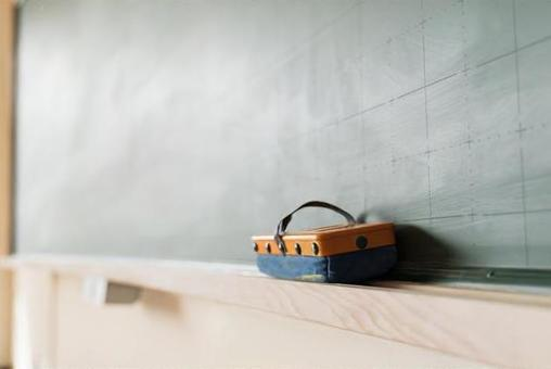 Japanese elementary school blackboard and eraser