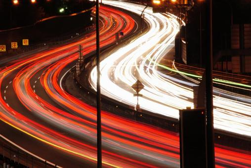 Light band of highway