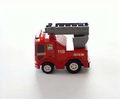 Fire engine mini car sideways