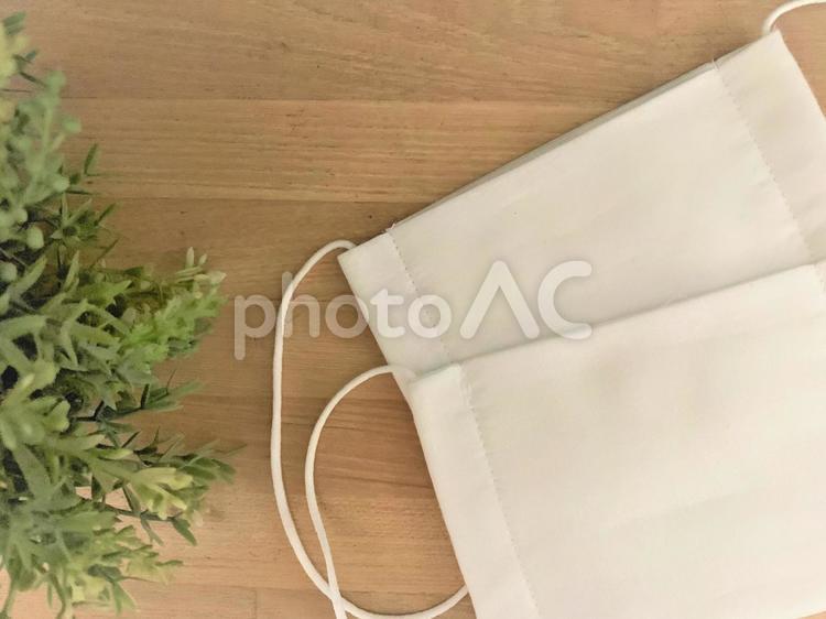 ガーゼマスク2枚の写真画像の写真