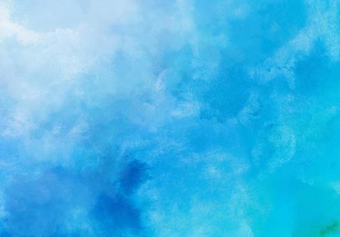蓝色的水彩纹理