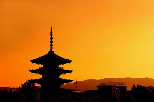 Evening scenery in Kyoto