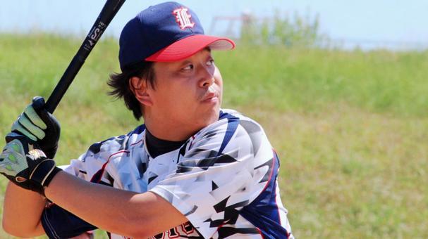 Male person baseball sports home run batter