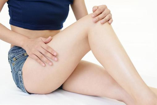 Female leg body care