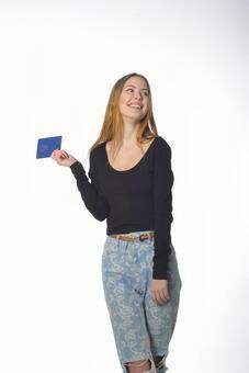 여권을 가진 여자 5
