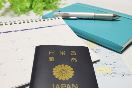여권 및 여행 계획 이미지