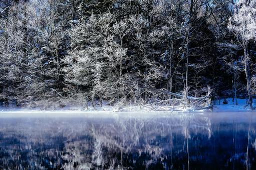 Lake Kussharo in winter