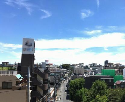 Residential area of Tokyo (distant view)