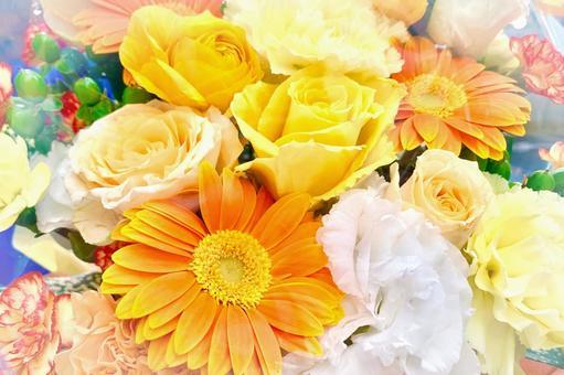옐로우 오렌지 계열의 꽃다발 A