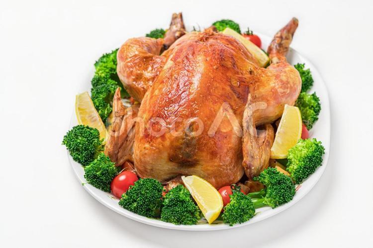 鶏の丸焼きの写真