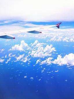 비행기 창에서보기