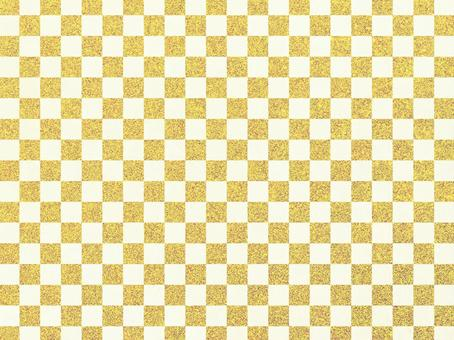 Gold glitter checkered pattern