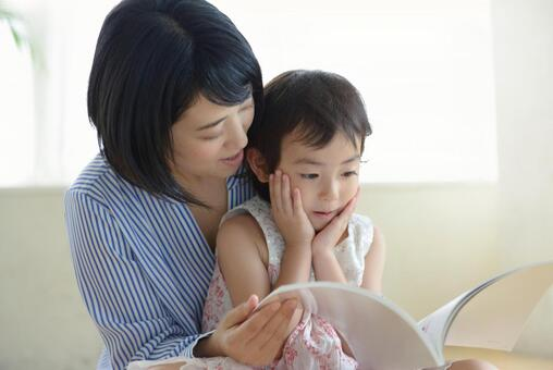 Mother and child reading 13