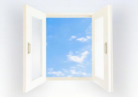 Windows and sky open