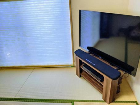 TV in the living room of a Japanese-style room