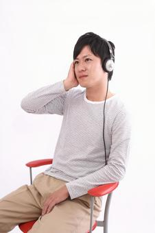 Male listening to music 7