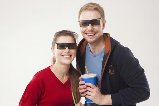 Couple watching 3D movies 33