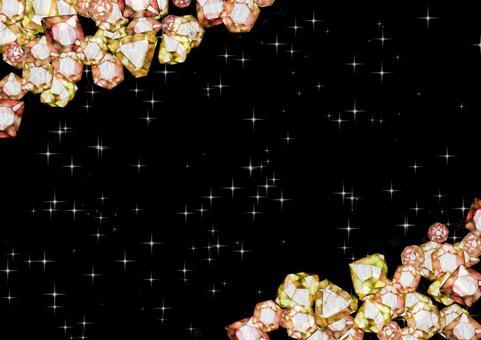 高級感のある宝石の背景