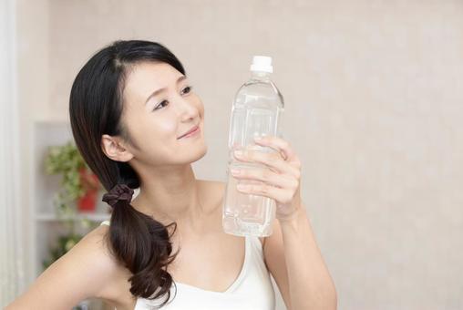 Female hydration plastic bottle