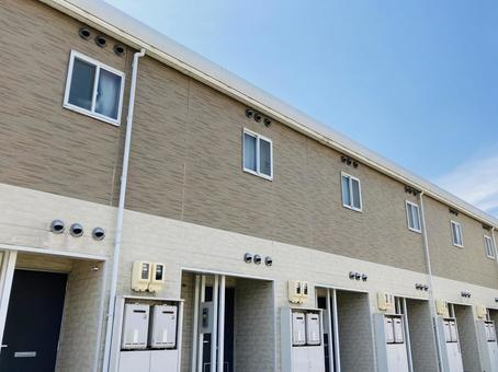Two-tone apartment real estate