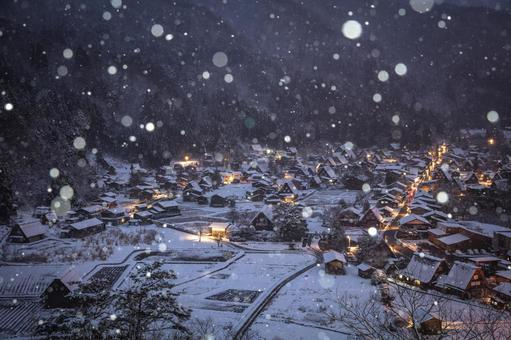 Gifu Prefecture Shirakawa-go Snowscape