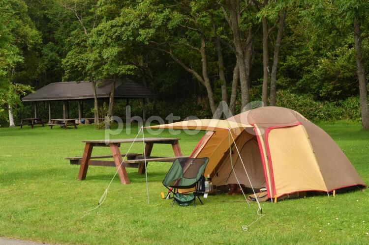 キャンプの風景の写真