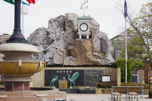 와 쿠라 온천 유모토의 광장