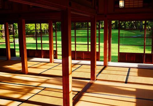 Large hall with tatami mats