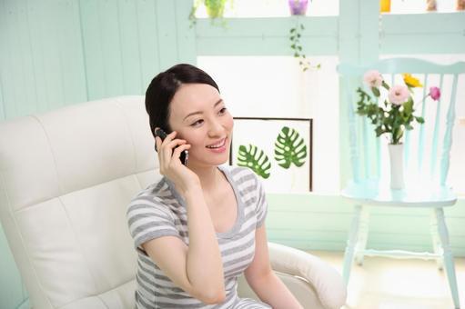 Woman making a call 6