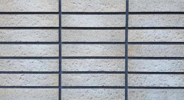 Tile white stone-like outer wall