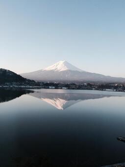 Upside down Mt. Fuji