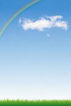 푸른 하늘과 초원 그리고 무지개 01
