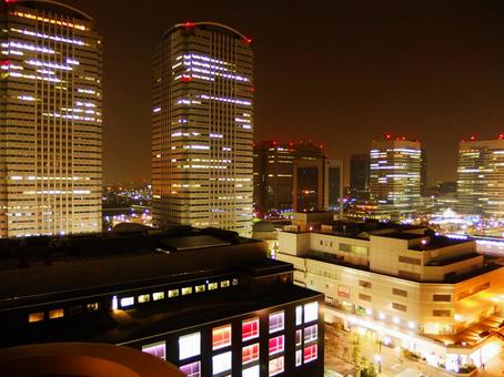 Night view of business area
