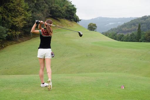 Golf women's tee shot series 8