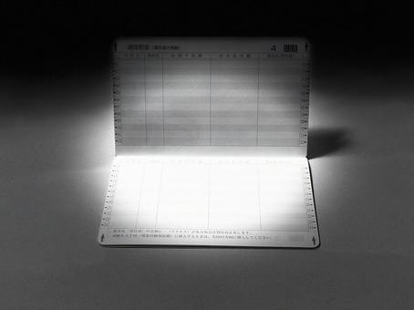 Passbook opened in the dark_monochrome