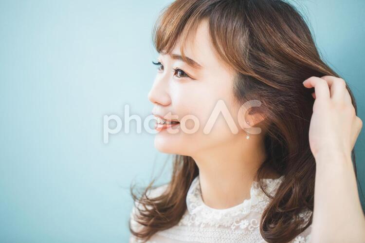 髪の調子がいい女性の写真