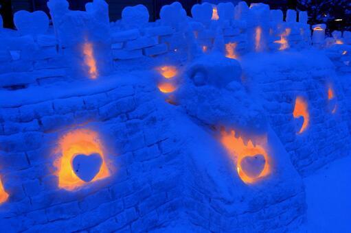 The 20th Otaru snow light path 4