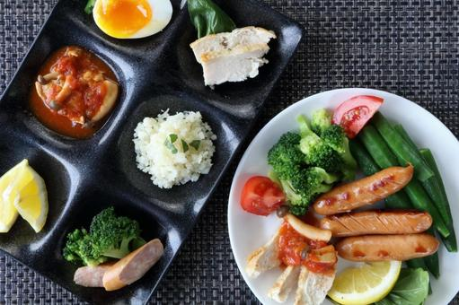 Healthy and colorful side dishes
